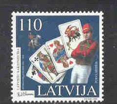 Latvia  Scott  487  1999 Biaumanis stamp mint NH