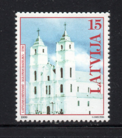 Latvia  Scott  492 1999  Aglona Basilica stamp mint NH