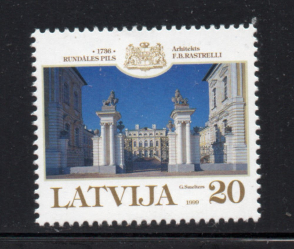 Latvia  Scott  495 1999  Rundale Palace stamp mint NH