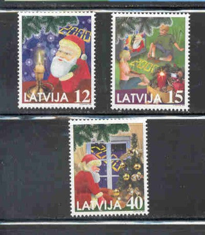 Latvia Scott  499-501 1999  Christmass stamp set mint NH