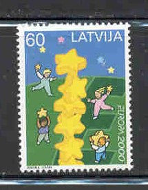 Latvia Scott  504 2000 Europa  stamp mint NH