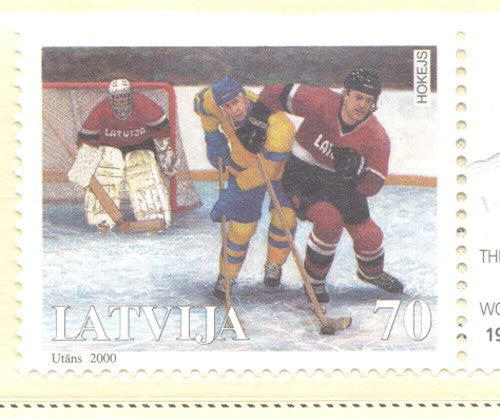 Latvia Scott  505 2000 Ice Hockey  stamp mint NH