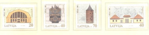 Latvia Scott  508-11 2000 800th Anniversaary Riga stamp set mint NH