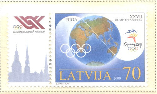 Latvia Scott  513 2000 Sydney Olympics stamp mint NH