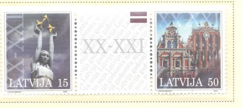 Latvia Scott  514 2000 Millennium stamp set mint NH