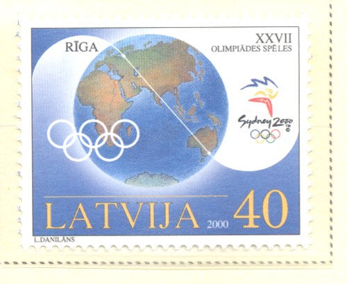 Latvia Scott  518 2000 Olympic Winner stamp mint NH