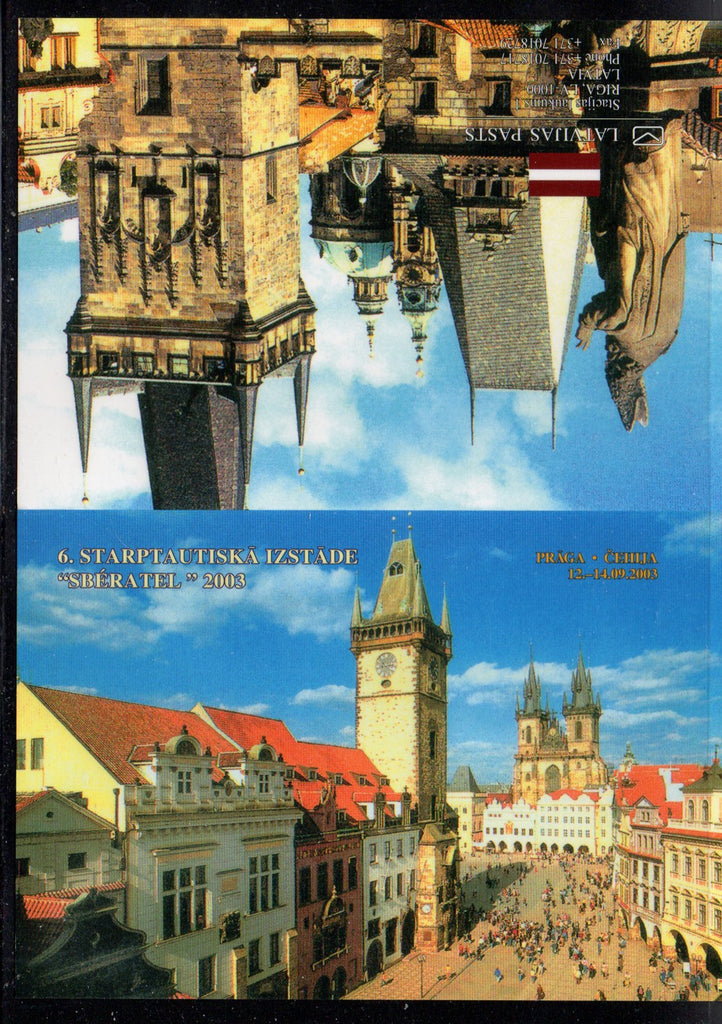 Latvia Scott 576a 2003 Fish stamp booklet pane Prague  mint NH