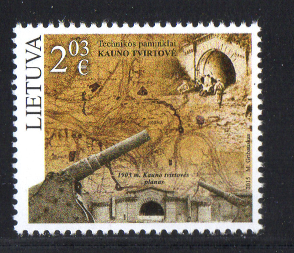 Lithuania Sc 1049 2015 Kaunas Fortress stamp mint NH