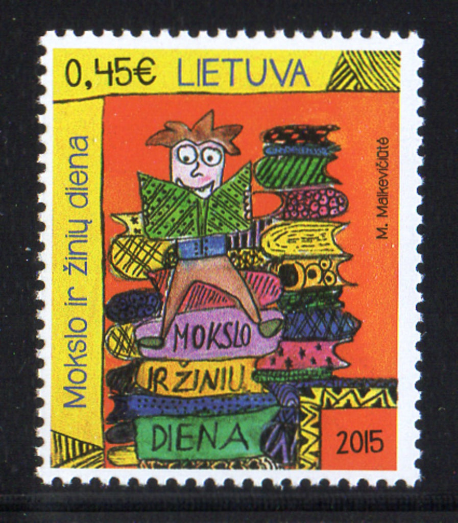 Lithuania Sc 1057 2015 Education & Knowledge Day  stampmint NH