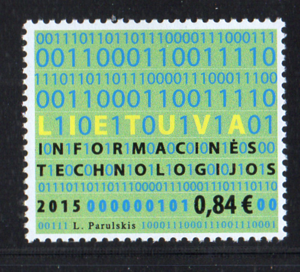 Lithuania Sc 1059 2015 Information Technologies stamp mint NH