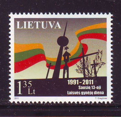 Lithuania Sc 931 2011 Freedom Day stamp mint NH