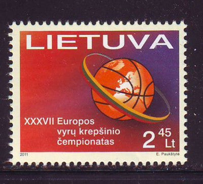 Lithuania Sc 932 2011 Basketball Championships stamp mint NH