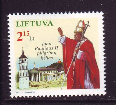 Lithuania Sc 940 2011 Pilgrim Route of Pope John Paul II stamp mint NH