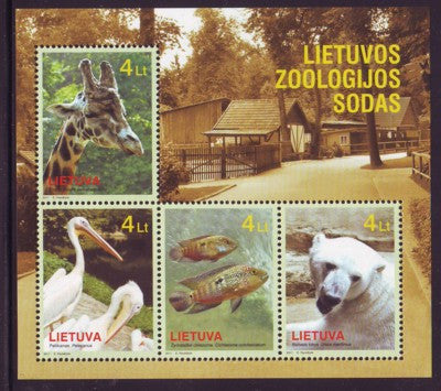 Lithuania Sc 941 2011 Zoo Animals stamp souvenir sheet mint NH