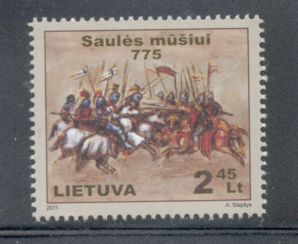 Lithuania Sc 951 2011 Battle of Saule stamp mint NH