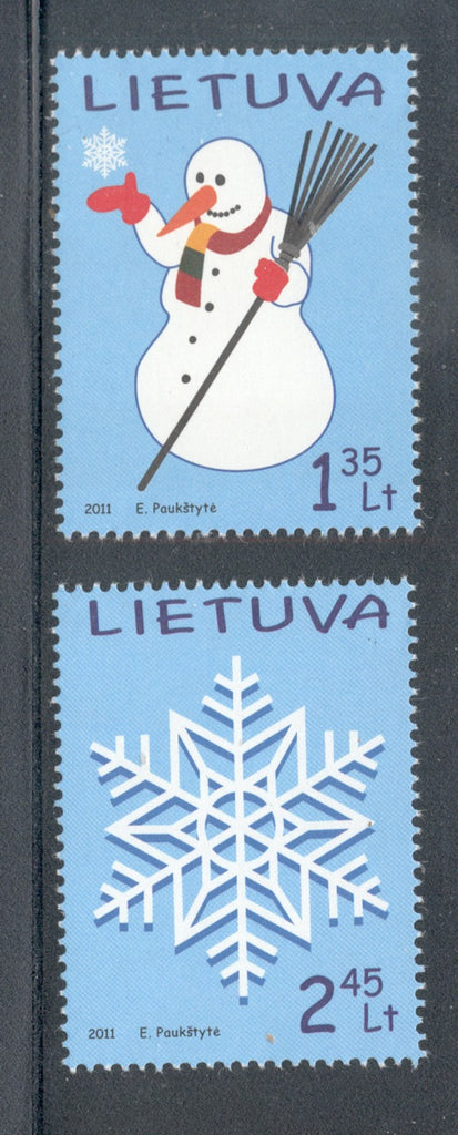 Lithuania Sc 955-6 2011 Christmas stamp set mint NH