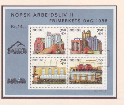 Norway Scott B69 1986 Paper Industry Stamp Day stamp sheet mint NH
