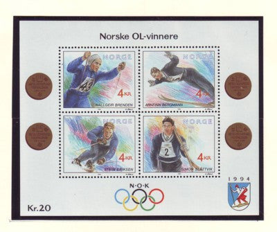 Norway Scott 1021 1992 Olympic Medalists stamp sheet mint NH