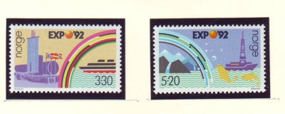 Norway Scott  1022-3 1992 Expo 92 Seville stamp set mint NH