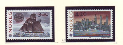 Norway Scott  1024-5 1992 Europa America stamp set mint NH