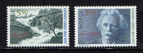 Norway Scott  1038-9 1993 Edvard Grieg stamp set mint NH