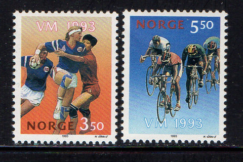 Norway Scott  1040-1 1993 Sports Championships stamp set mint NH