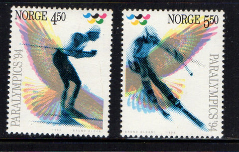 Norway Scott  1059-60 1994 Para Olympics stamp set mint NH