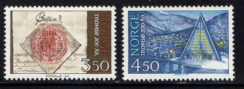 Norway Scott  1061-2 1994 Tromso stamp set mint NH