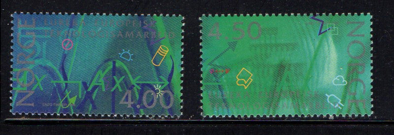 Norway Scott 1065-6 1994 Research stamp set mint NH
