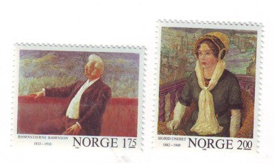 Norway Scott  810-11 1982 Paintings stamp set mint NH