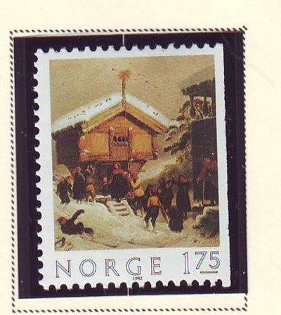 Norway Scott  815 1982 Christmas stamp mint NH