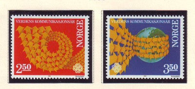 Norway Scott  825-6 1983 Communication Year stamp set mint NH