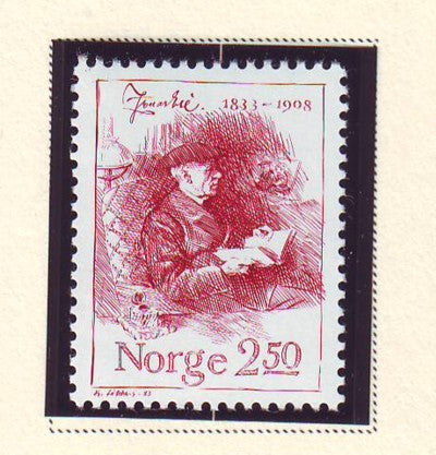 Norway Scott  828 1983 Jonas Lie stamp mint NH
