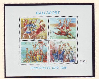 Norway Scott 934 1988 Balll Sports stamp sheet mint NH