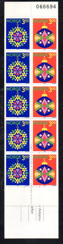 Norway Sc 953a 1989 Christmas stamp booklet mint NH