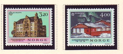 Norway Scott  980-1 1990 Europa Post Offices stamp set mint NH