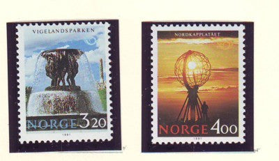 Norway Scott  995-6 1991 Tourism stamp set mint NH