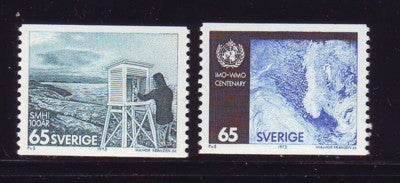 Sweden Sc 1001-02 1973 Weather Service stamp set  mint NH
