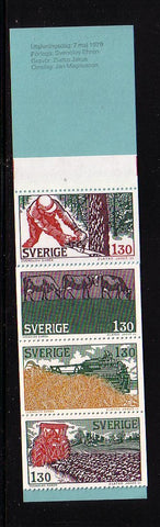 Sweden Scott  1284a 1979 Seasons stamp booklet mint NH