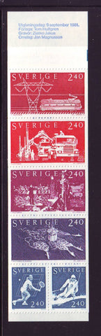 Sweden Scott  1383a 1381 Swedish Exports stamp booklet mint NH
