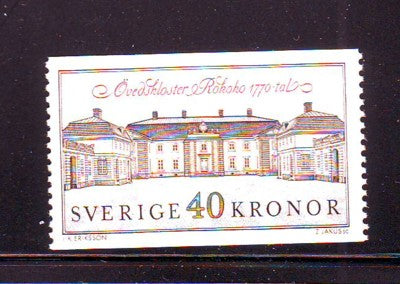 Sweden Sc 1841 1990 Ovedskloster Palace stamp mint NH