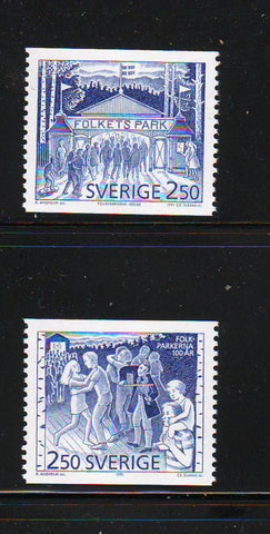 Sweden Sc 1889-90 1991 Public Parks stamp set mint NH