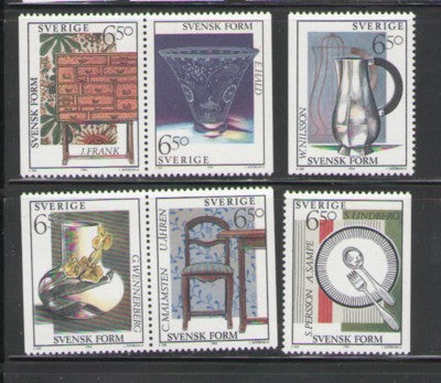Sweden Sc 2076-81 1994 design stamp set mint NH