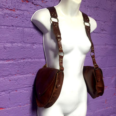 KING SLAYER Leather Holster Bag in Rust & Antique Brass - 6