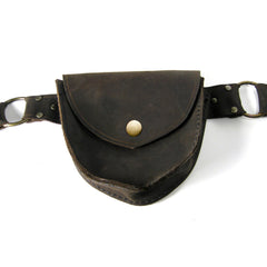 X-BAG Leather Double Pouch Hip Belt in  - 8