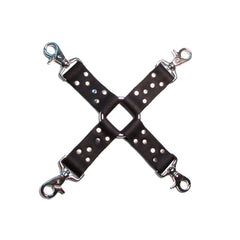 FOUR CUFFS AND HOG TIE Leather Restraint set
