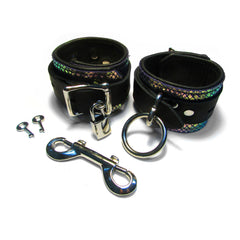 LOCKING Leather Bondage Cuffs