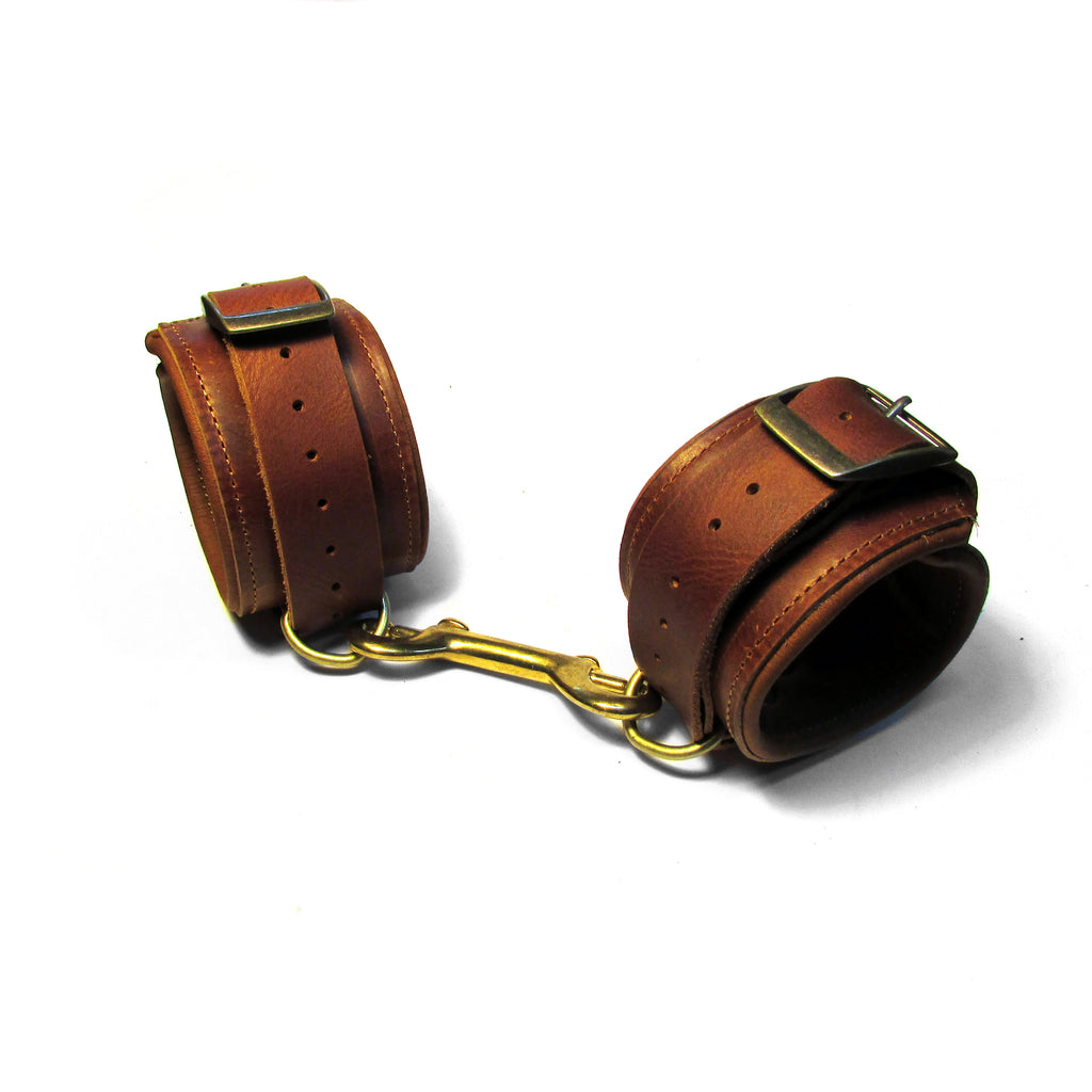 PADDED Leather Bondage Cuffs