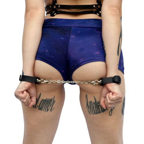 COVERT Leather Bondage Cuffs - New!