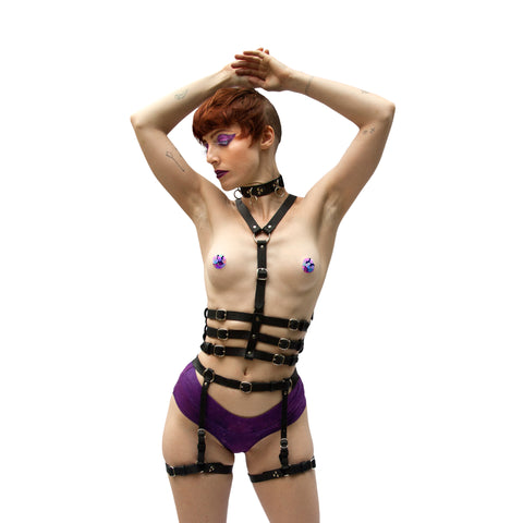 TRIPLE AGENT Leather Harness